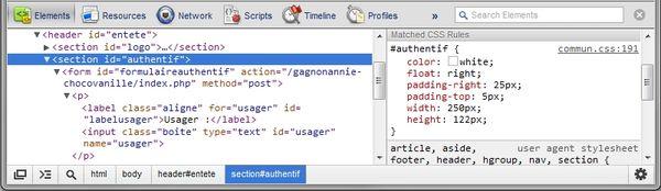 Accéder à « Les outils du développeur Web »