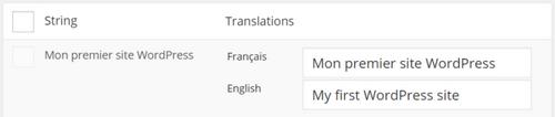 Chaînes traduites