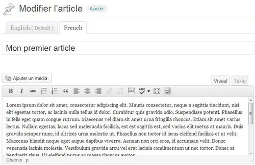Traduction d'un article