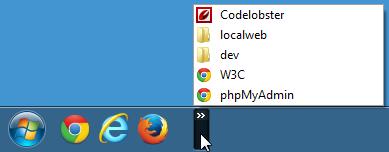 Barre de lancement rapide sous Windows 7