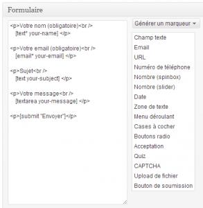 Contact Form 7 - Champs saisis par défaut