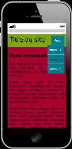 Gabarit HTML et CSS sur téléphone intelligent