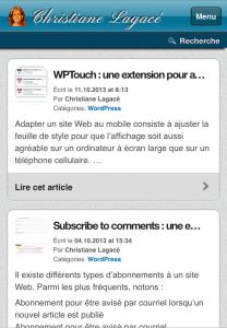 WPTouch : stylyser un titre