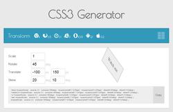 Outils de l'intégrateur - CSS3 Generator - Transform