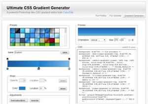 Outils de l'intégrateur - ColorZilla CSS Gradient Generator