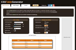 Outils de l'intégrateur - CSS Table Generator