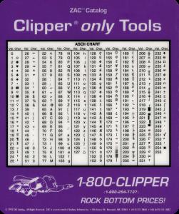 Charte ASCII