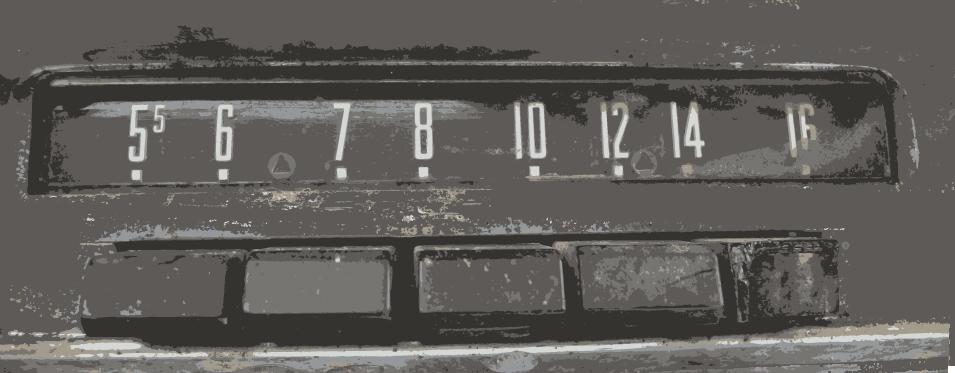 Radio avec boutons poussoirs