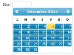 Accéder à « Contrôle de calendrier avec jQuery »