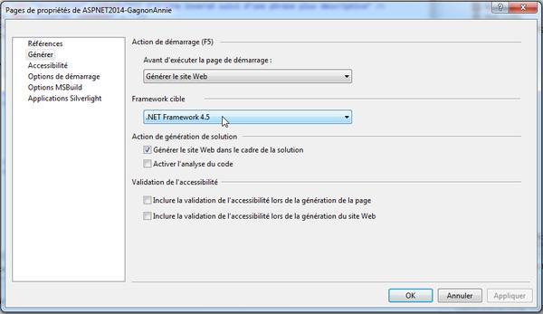 Accéder à « Configuration de Visual Studio »