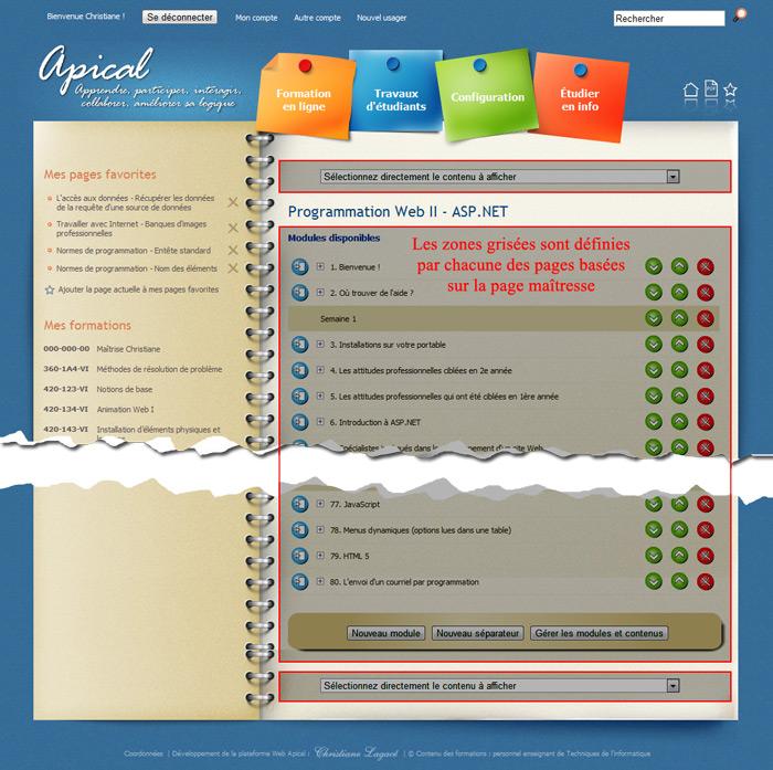 Accéder à « ASP.NET : Les pages maîtresses (master pages) »