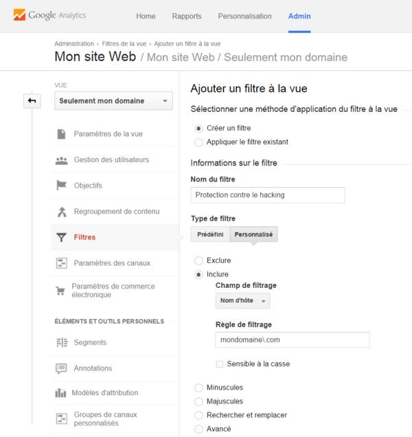 Filtrer les données Google Analytics