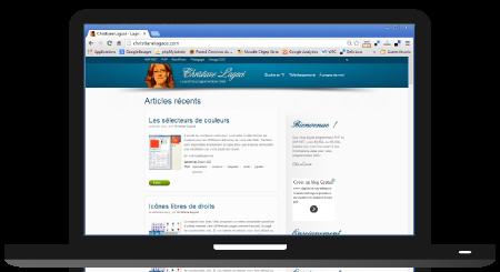 Maquette du site sur ordinateur