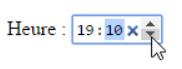 Input type='time'