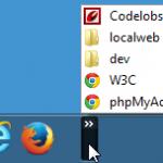 Accéder à « Créer une barre de lancement rapide sous Windows  »
